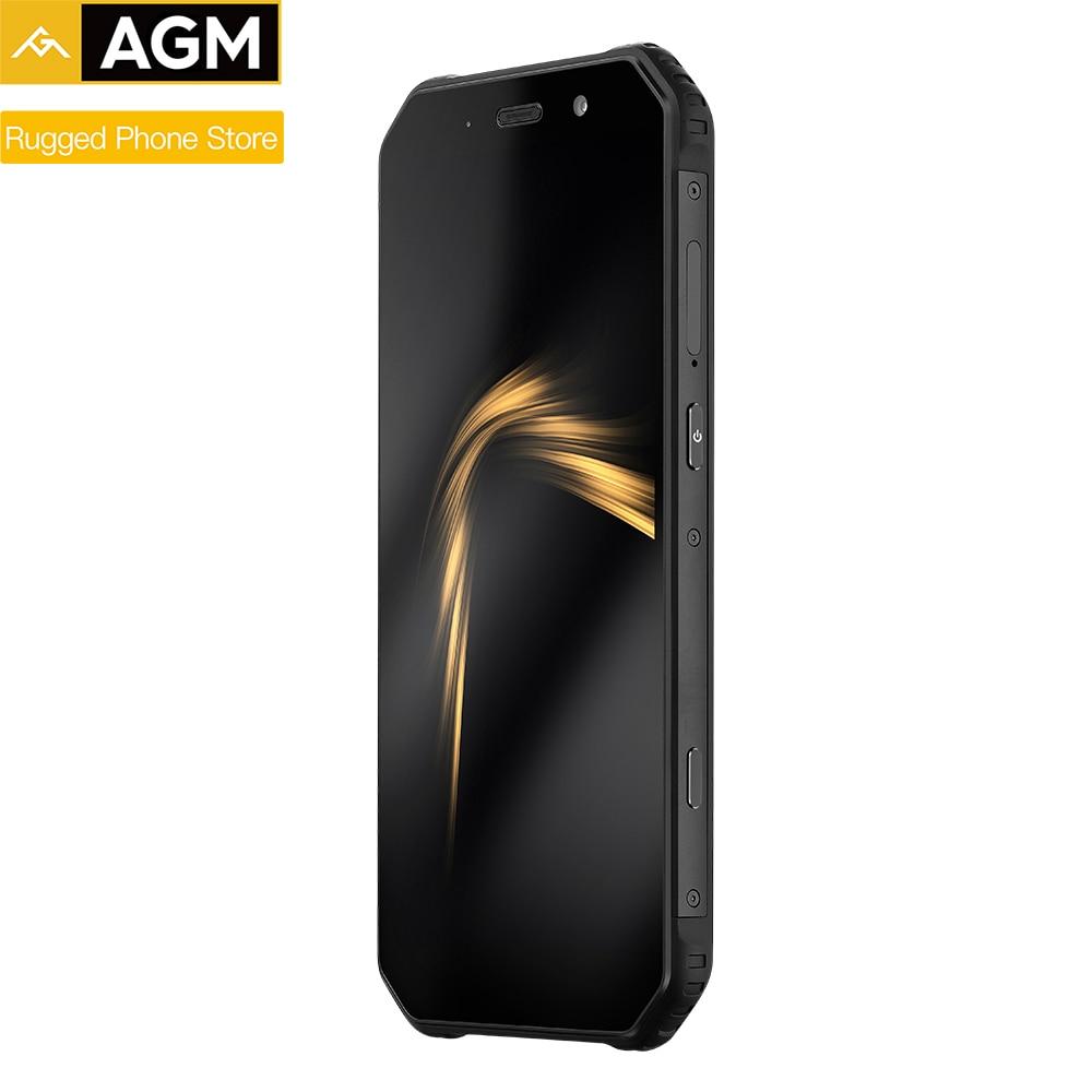 """AGM A9 IP68 водонепроницаемый прочный телефон 5,99 """"HD 18:9 4 Гб ОЗУ 32 Гб ПЗУ SDM450 Восьмиядерный 5400 мАч с отпечатком пальцев-C NFC"""