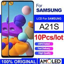 Hurtownie 10 sztuk dużo oryginalny 100% testowane A21S LCD dla Samsung A21s A217 SM-A217F wyświetlacz lcd ekran dla Samsung A21S wyświetlacz lcd