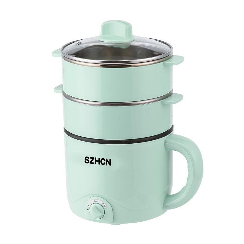 220V Mini Multifunction Electric Cooking Machine Household Single/Double Layer Hot Pot Multi Electric Rice Cooker Non-stick Pan
