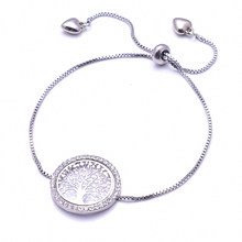 Antique Silver Charm Bracelet & Bangle with Love and Tree of Life Women Wedding Jewelry 3 Colors(China)