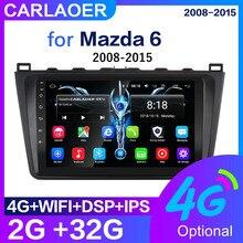 Carro android multimídia player para mazda 6 rui asa 2007 2008 2009 2010 2011 2012 2 din rádio de áudio gps 2din navi wifi 4g sim 2gb