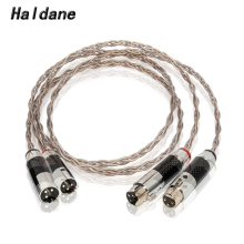 Haldane Pair HIFI Nordost Odin Single Crystal Silver XLR Male to Female Audio Wire Carbon Fiber 3pin XLR Balanced Cable
