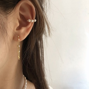 MENGJIQIAO 2020 Fashion Metal Chain Acrylic Simple Circle Drop Earrings For Women Cute Elegant Pearl Oorbellen Party Jewelry