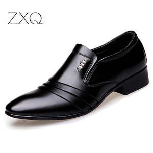 Shoes Oxford Loafers Business-Dress Formal Black Pointy Fashion Luxury Brand PU Men