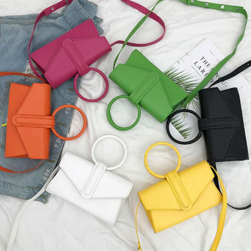 Hot Sale Women's PU Leather Crossbody Bag Waist Packs Magnetic Buckle Handbag Simple Shoulder Bags