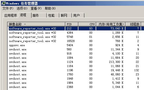 software_reporter_tool.exe CPU占用94%