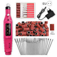 Professional Electric Nail Drill Machine Set with 30pcs Nail Drill Bits 180# Nail Grinding Head Grinding Manicuring Files Tools