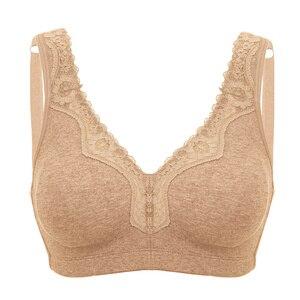 Image 5 - Frauen Plus Größe Full Coverage Draht Freies Nicht Schaum Komfort Spitze Baumwolle Bh Plus Größe