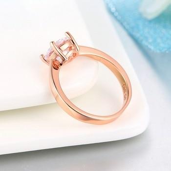 Luxury Rose Gold Women Diamond Ring for Wedding Engagement Statement Rings Rhinestone AAA White Zircon Cubic Rings Fine Jewelry 3