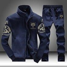 Брендовые мужские спортивные комплекты, спортивные костюмы для бега, фитнеса, мужской спортивный костюм из двух предметов, толстовка+ спортивные штаны, одежда для спортзала, тренировочный костюм, Mannen