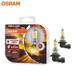 Image 1 - OSRAM Fog Breaker 9006 HB4 Super Yellow Car Head Light Lamp Fog Bulb +60% Light +200%   12V 51W 2600K 9006FBR (Twin)