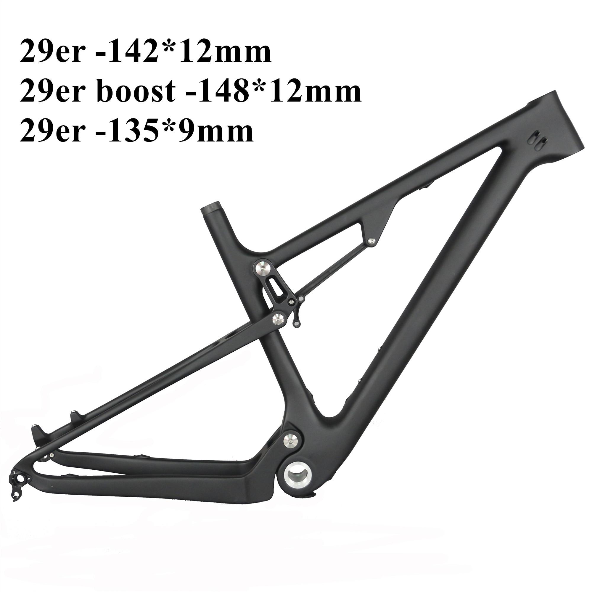 Free Shipping  Newest  29er*2.3tire Disc Brake Full Suspension Cross Country   Inner Cable Mountain Bike Frame FM037