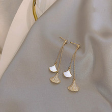 2019 New Arrival  Metal Trendy Geometric Women Dangle Earrings Long Tassel Korean Female Elegant Jewelry