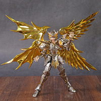 New GT Great Toys Soul of God Gold EX Gemini SaGa metal armor With Cloth Hanger Myth God Action Figure Toy