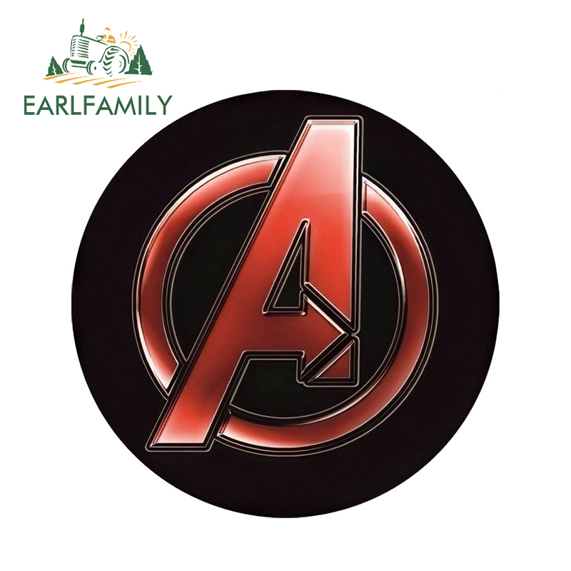 EARLFAMILY 13cm x 13cm 3D Car Stickers The Avengers Logo Super Hero Marvel Auto Motor Rear Windshield Decorative Funny Car Decal