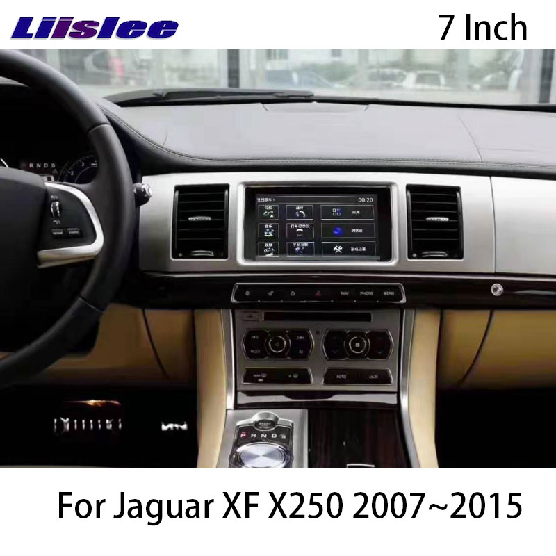 LiisLee Car Multimedia GPS Audio Hi-Fi Radio Stereo For XF X250 2007 2008 2009 2010 2011~2015 CarPlay Navigation Map NAVI 4