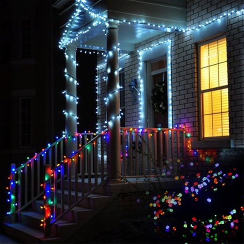 10-50M LED String Lights Garland Outdoor Xmas Christmas Lights LED Holiday Lighting Decoration Drop Fairy Light For Garden Party