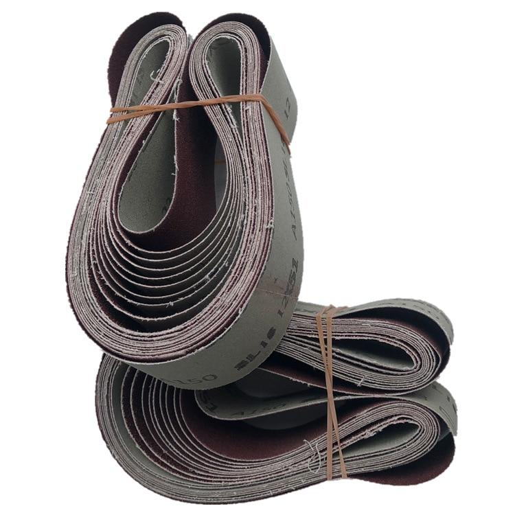 10 PCS 686*50mm Abrasive Belt Sanding Band For Wood Soft Metal Polishing