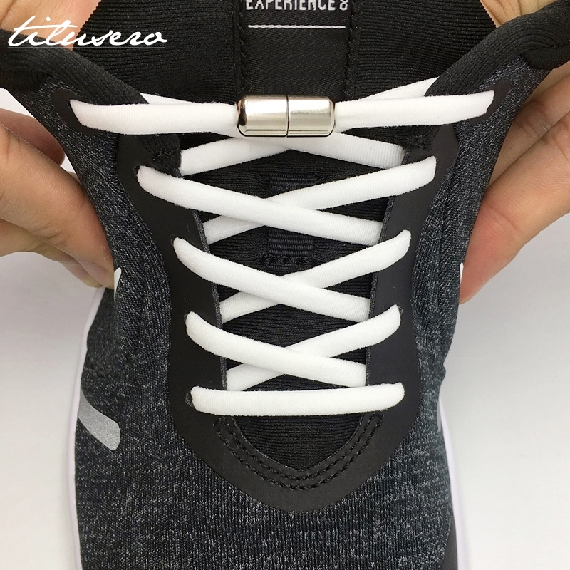 Elastic No Tie Shoelaces Semicircle Shoe Laces For Kids and Adult Sneakers Shoelace Quick Lazy Metal Lock Laces Shoe Strings Yamaha XSR900