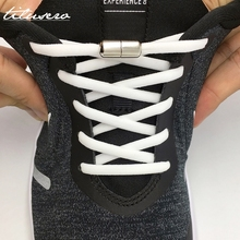 Elastic No Tie Shoelaces Semicircle Shoe Laces For Kids and Adult Sneakers Shoelace Quick Lazy Metal Lock Laces Shoe Strings недорого