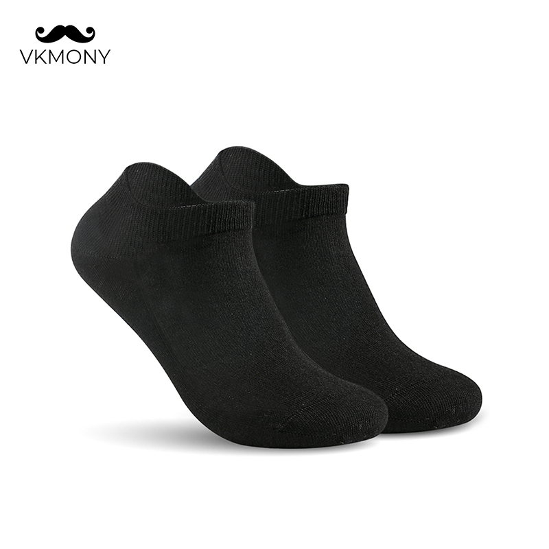 Men Summer Socks Cotton No Show Man Solid Brand Socks (EU 39-46) (US 7.0-12.0) VKMONY