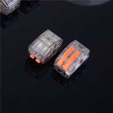 10PCS Fast Wire Connectors 222-415/222-412/222-413 Compact Wiring Connector Mini Push-in Conductor Terminal Block