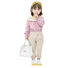Kids Girls Clothing Sets Autumn Baby Girl Clothes Casual Long Sleeve Floral Blouse Tops+Pants Trouser Costume Set 2Pcs Suits цены онлайн