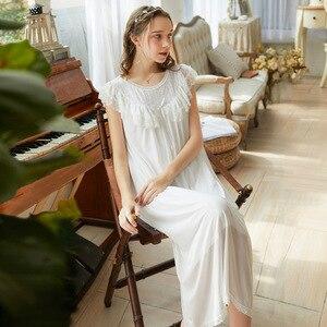 Image 1 - Roseheart 여성 여성 레드 핑크 섹시 Nuisette 잠옷 Homewear 나이트 드레스 롱 레이스 O 넥 Nightwear 나이트 가운