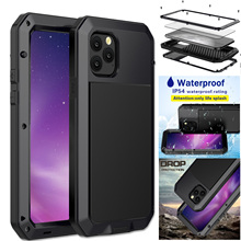 Metal Case For iPhone 12 11 Pro XR X XS Max 8 7 Plus 6S 5S SE 2020 Waterproof Shockproof Doom Armor Phone Hard Protection Cover