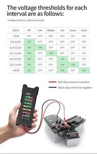 Image 4 - 12V 24V Car Battery Tester with 7 LED Lights Display Car Battery Loading Detector Analyzer Alternator