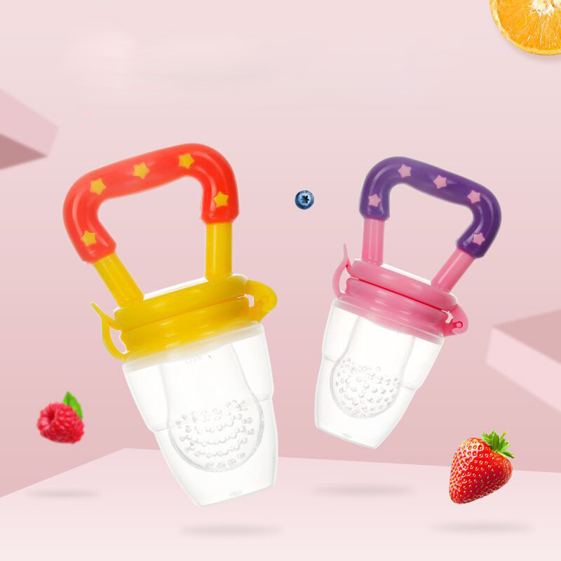 Fresh Food Nibbler Silicone Baby Pacifier Infant Soother Feeder For Fruits Food Dummy Feeding Nipple
