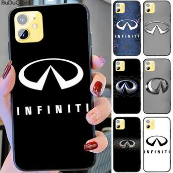 Fashion Super Car Infiniti Logo Phone Case for iphone 11 12 Pro 11Pro Max X XS XR XS MAX 8plus 7 6splus 5s se 7plus SE 2020 case image