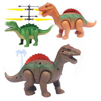Action Figure Electric Walking Dinosaurs With Luminous Vocal Toys Animals Model Simulation Dinosaur Toy For Kids Birthday Gifts mighty electric walking with sound dinosaur toys animals model toys for kids