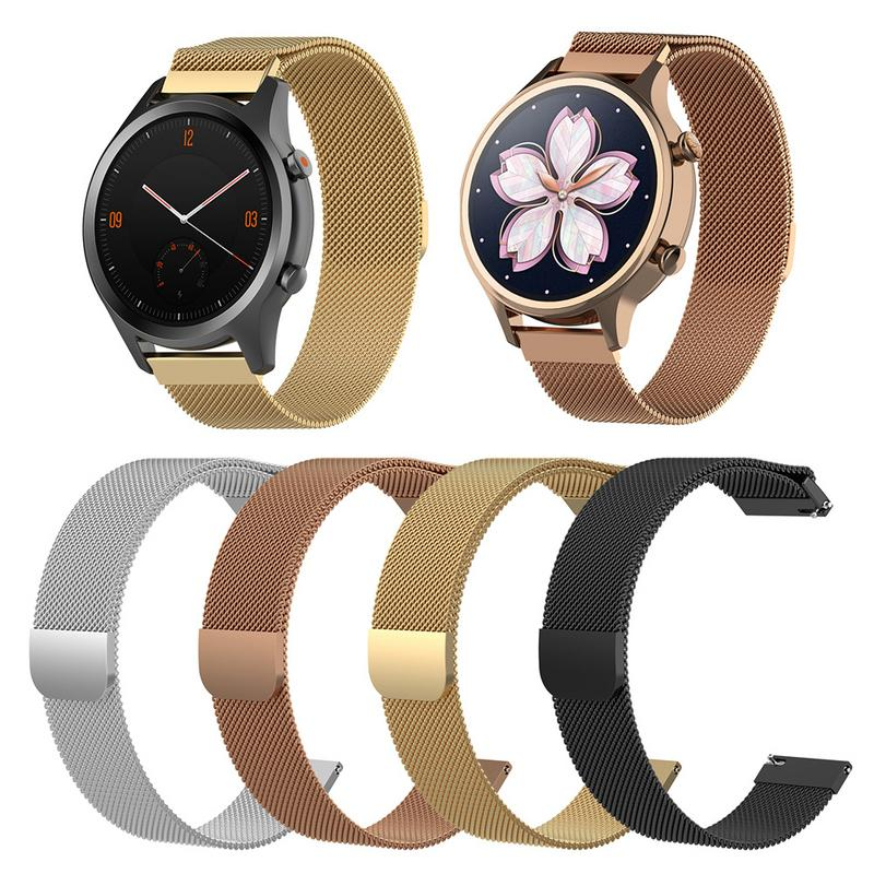 Metal Bracelet For Tic Watch C2 Strap Magnetic Milanese Watch Band 18MM 20MM Wristband Strap For Ticwatch C2 Wrist Strap