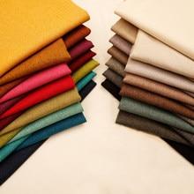 Tissu blanc de tissu de lin solide de tissu simple de tapisserie d'ameublement pour des tissus de sofa pour la couture