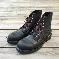 Yomior Brand New Luxury Shoes Vintage Men Boots Cow Leather Goodyear Welted Ankle Boots Dress Wings Motorcycle Wine Red Boot