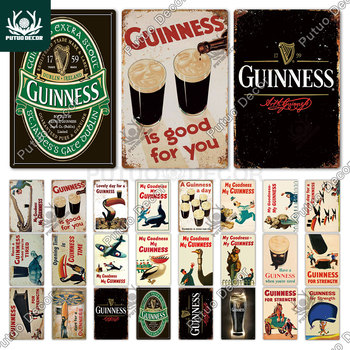 Guinness Vintage Metal Signs Tin Sign Plaque Pub Plate Wall Decor for Bar Club Man Cave Decorative - discount item  40% OFF Home Decor