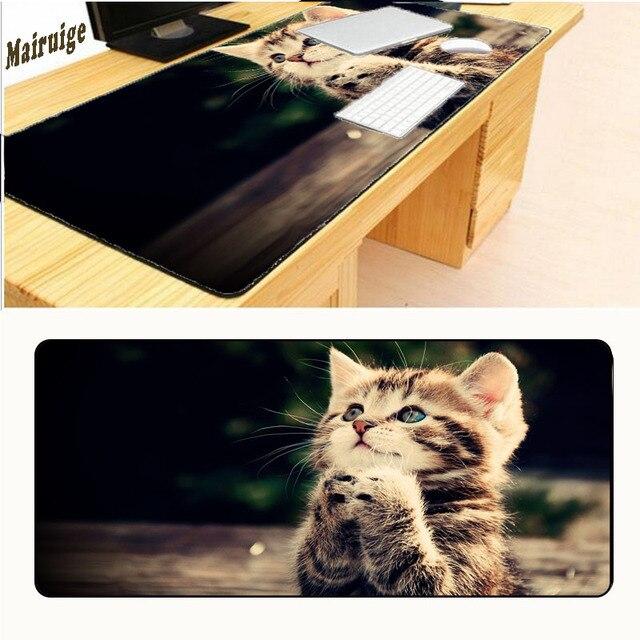 Mairuige 400*900 grande taille mignon chat tapis de souris animaux acceptent Image personnaliser anti-dérapant jeu tapis de souris mode tapis de souris