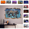 3D PVC Wall Stickers Fortnites Game Figure Tattered Frame Decals Art Kid Children Room Student Dormitory Decoration Laptop Decor 1