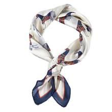 Женский ретро небольшой квадратный шарф из искусственного шелка