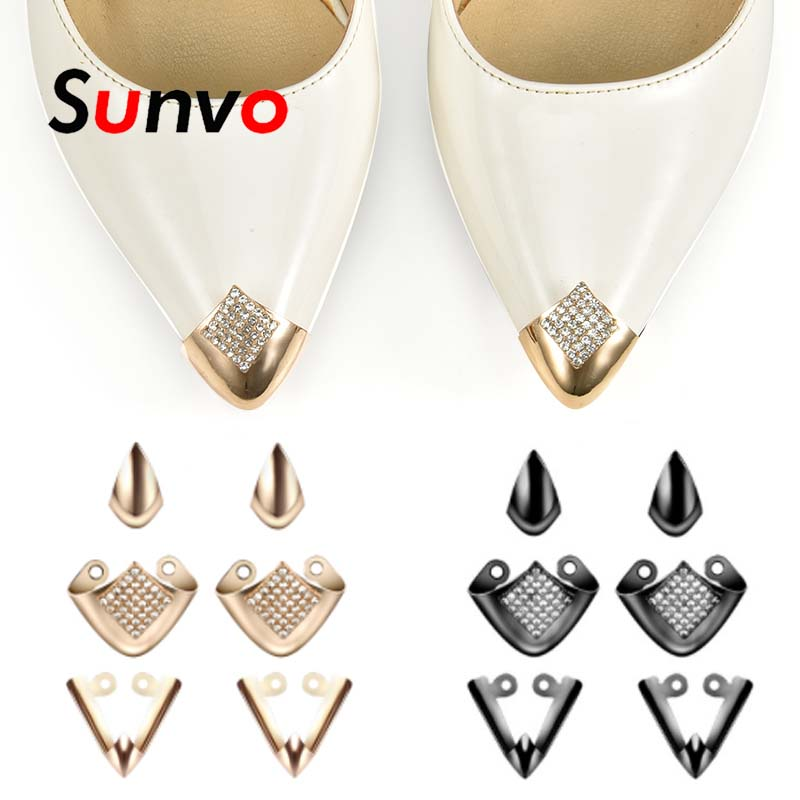 Metal Shoes Toe Protection For Women High Heels Shoe Care Clips Fashion Heel Decoration Toe Cap Broken Reapair Accessories