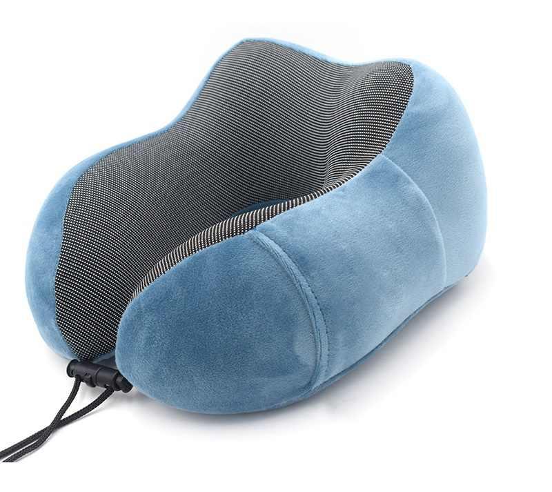U-образная твердая массажная подушка терапевтическая медленный отскок пены памяти Ядро может храниться подушка для путешествий офис шейный платок подушка