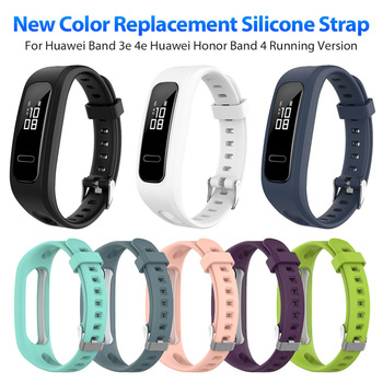 Adjustable Silicone Watch Strap Replacement for Huawei Band 4e Smart Watch Wristband Bracelet Strap for Huawei Band 4e premium new soft silicone watch band for amazfit t rex smart watch bracelet replacement wristband adjustable sports watch strap
