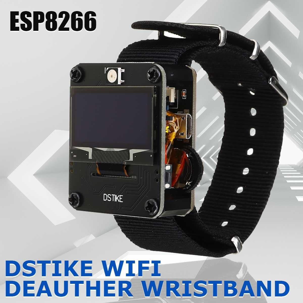 DSTIKE Deauther Wristband Wearable WiFi Attack Control Test Smart Watch LED ESP8266 Development Board For Arduino