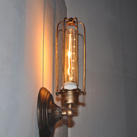 European retro bar table lighting fixtures American country personality wrought iron wall lamp antique wall lamp