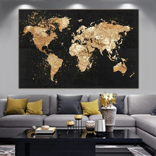 Big Size World Map Canvas Painting Retro Posters and Prints Modern Wall Art Picture for Living Room Study Home Decor Cuadros