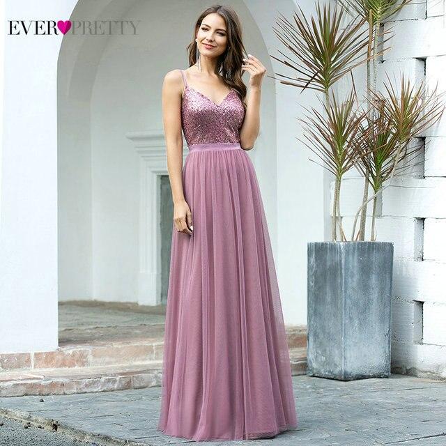 Длинные платья для выпускного вечера 2020 EP07455OD Элегантные платья трапециевидной формы с v образным вырезом из тюля для свадебной вечеринки с блестками Vestidos De Fiesta Elegantes Largos