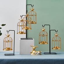 European Gold Iron Art Candlestick Decoration Romantic Candlelight Dinner Props Household Table Light Decorative Candle Holder