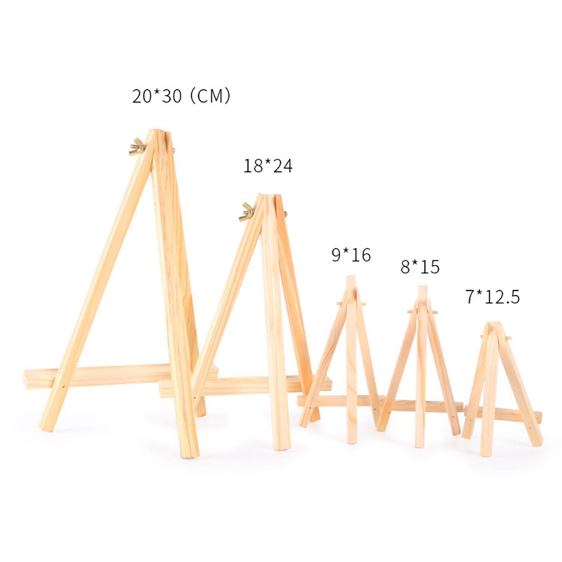 1 pcs Wooden Mini Artist Easel Wood Wedding Table Card Stand Display Holder for Party Decoration Desk Phone Tablet Stand