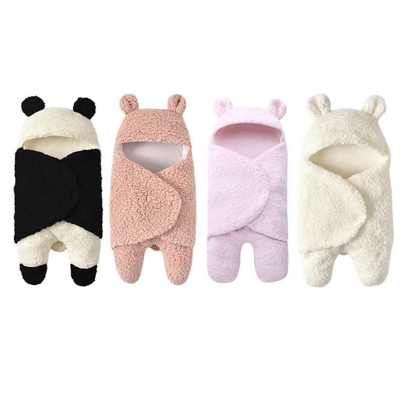 New Soft Baby Blankets Newborn Winter Thicken Wool Warm Blanket Boys Girls Swaddle Baby Sleeping Wrap Blanket For 0-12M